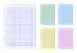 Feuilles de papier vierge de couleur
