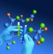 Test tubes molecular model