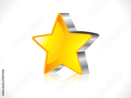 abstract glossy 3d star