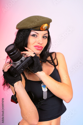 army girl photographer