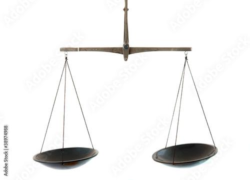 Leinwandbild Motiv scales isolated
