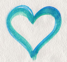 Green blue heart shape