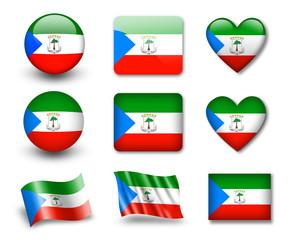 The Equatorial Guinea flag