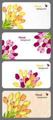 Set of nature gift cards vector illustration