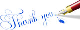 Thank you note fountain pen write