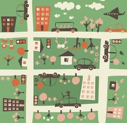 cartoon seamless map