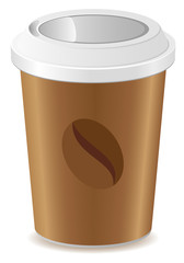 paper cup with coffee vector illustration