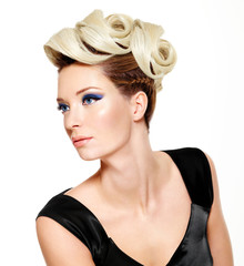 Beautiful  woman with hairstyle
