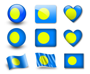 The Palau flag
