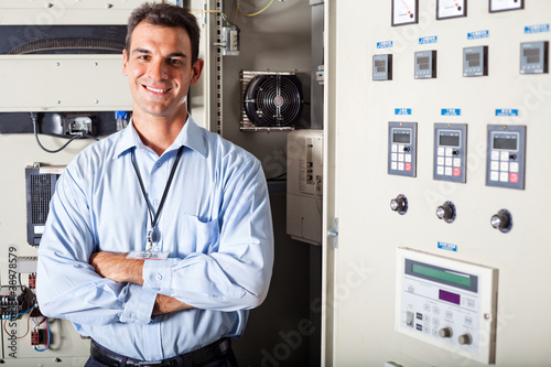 portrait of professional industrial technician