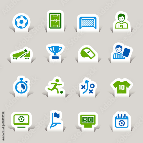 Paper Cut - Soccer Icons