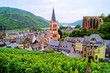 View over Bacharach along the famous Rhine River