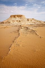 The limestone formation rocks in the Western White Desert, Egypt