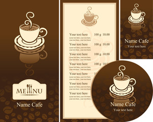 corporate identity for the cafe menu