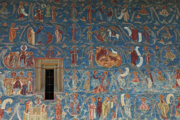 Voronet Monastery-wall detail