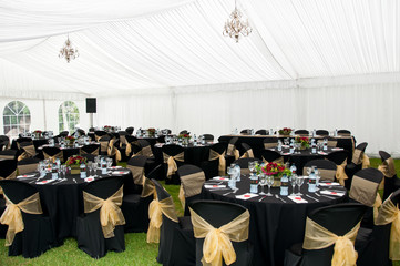 Wedding Marque in Black and gold theme