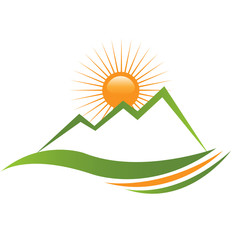 Ecologycal sunny mountain design
