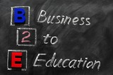 Acronym of B2E - Business to Education poster