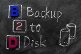 Acronym of B2D - Backup to Disk poster