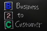 Acronym of B2C - Business to Customer poster