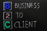 Acronym of B2C - Business to Client poster
