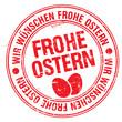 Stempel - Wir Wünschen Frohe Ostern (III)