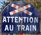 Panneau attention au Train