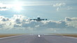 airplane landing , 3d animation