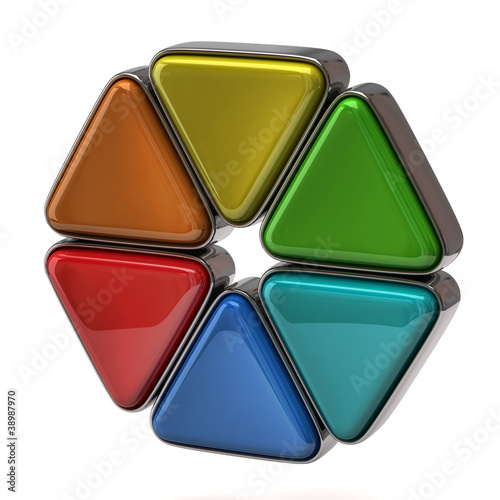 3d illustration of color wheel