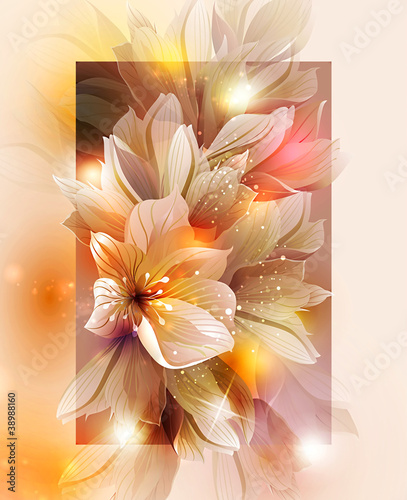 Aluminium Bloemdessin Summer or spring vector illustration for fresh design