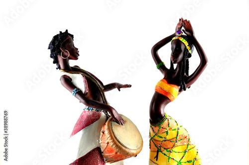 African figures dancing