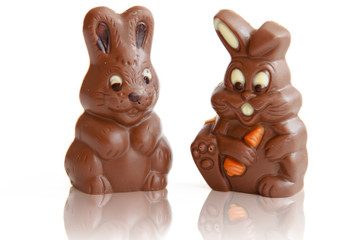 Two Chocolate Easter Bunny
