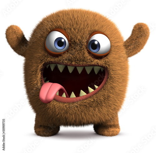 Deurstickers Sweet Monsters happy cartoon monster