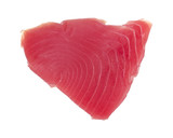 Yellowfin tuna on white background poster