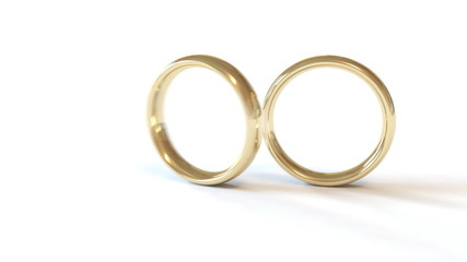 Two rotating wedding rings are combined into one