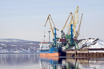 Freight port. Murmansk