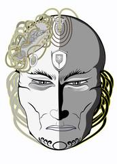 pensive mask