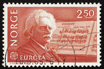 Postage stamp Norway 1983 Edvard Grieg, Composer