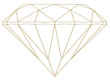 Diamant fil d'or en relief