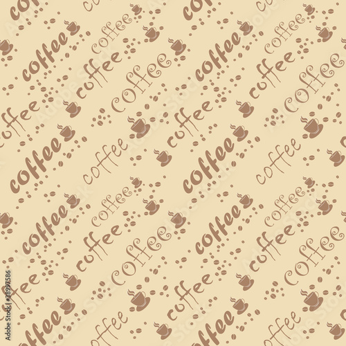 Vector coffee seamless backgroud