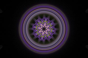 Purple Fractal Circle
