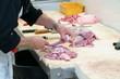 boucherie - désossage de cuisses de dinde