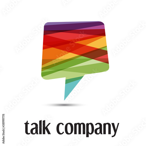 Logo talking # Vector