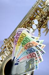 Saxophon mit Gelscheinen