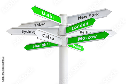 International Cities On Crossroads Sign