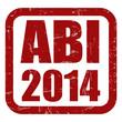 Grunge Stempel rot ABI 2014