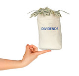 Bag with dividends poster