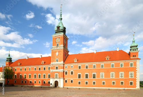 Fototapeta king castle in old twon of Warsaw