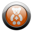 "Orange Metallic Orb Button ""Pediatrics"""