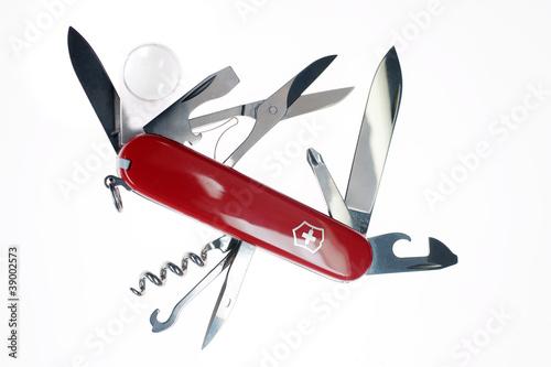 Aufgeklapptes Schweizer Taschenmesser - 39002573